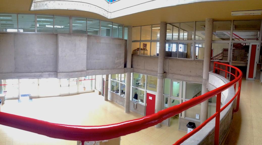 Patio interior del Edificio de la Escuela de Arquitectura de Las Palmas de Gran Canaria