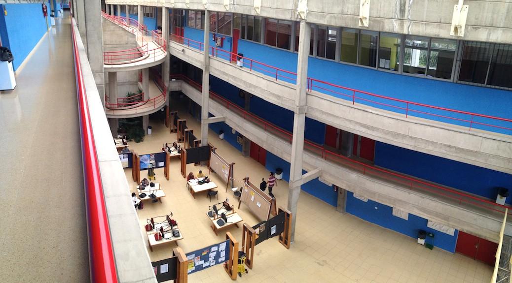 Patio interior de la Escuela de Arquitectura de Las Palmas de Gran Canaria