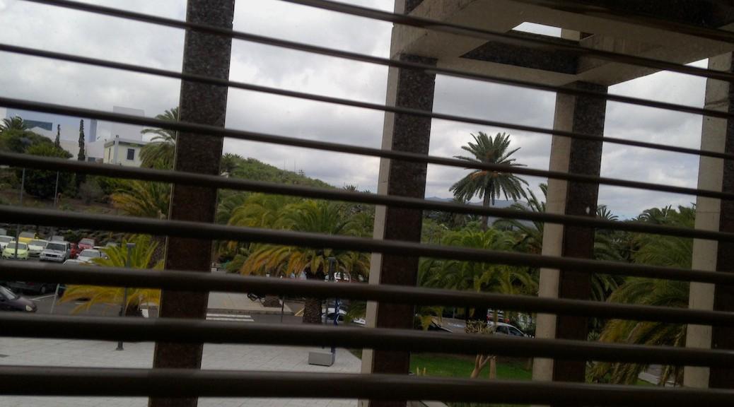 Vista desde la Biblioteca de la Escuela de Arquitectura de Las Palmas de Gran Canaria